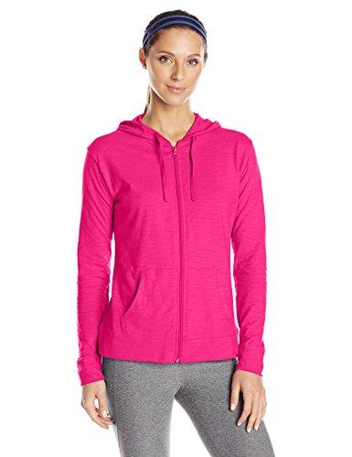 Hanes Damen Jersey Full Zip Hoodie - Pink - XX-Large Hanes Womens Sweatshirt