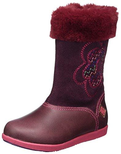 Agatha Ruiz de la Prada Mädchen 171930 Stiefel, Rot (Vino), 32 EU (Prada Rot Leder)
