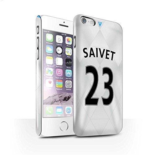 Offiziell Newcastle United FC Hülle / Glanz Snap-On Case für Apple iPhone 6S / Pack 29pcs Muster / NUFC Trikot Away 15/16 Kollektion Saivet