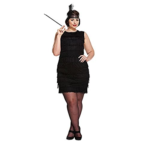 Flapper Robes Fille - Femmes Noir 1920s Franges Fille Flapper Charleston