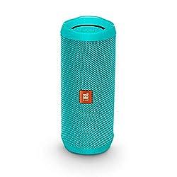 JBL Flip 4 Bluetooth-Lautsprecher Box (Wasserdichter, tragbarer Lautsprecher mit Freisprechfunktion und Sprachassistent, bis zu 12 Stunden Wireless Streaming mit einer Akku-Ladung) petrol