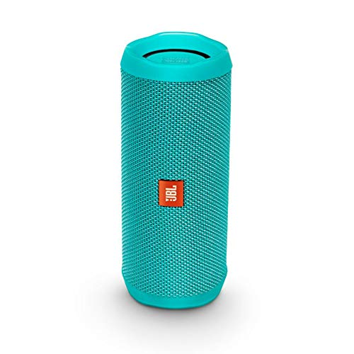 JBL Flip 4 Bluetooth Box in Petrol - Wasserdichter, tragbarer Lautsprecher mit Freisprechfunktion & Sprachassistent - Bis zu 12 Stunden Wireless Streaming mit nur einer Akku-Ladung - Wireless Wasser Lautsprecher Bluetooth