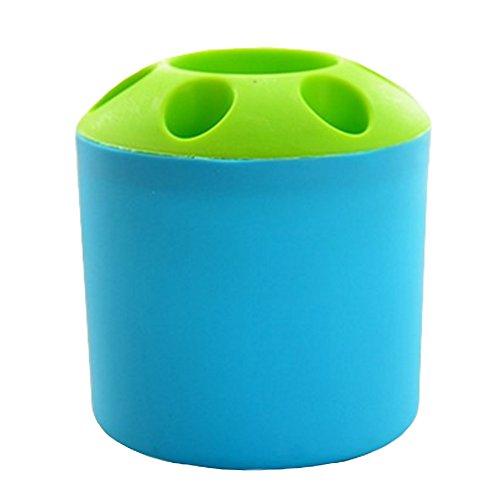 Multifonctionnel Brosse à dents boîte de porte plumier Accessoires de bain, Bleu