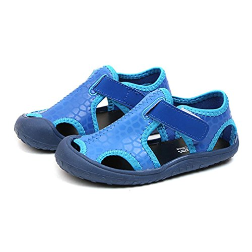 Kinder Mode Strand Sandalen Mode Mädchen Sandalen Schuhe Unisex / Solid / Klettverschluss / Frühling / Herbst / Leder / Gummi / Shallow (EU:28, Sexy Dunkelblau) (Mädchen Sandalen Verkauf)