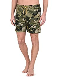 c7b22c9a9a Napapijri Swimming Trunk with Green Leaves Print, Mens.