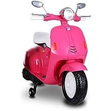 Scooter électrique LT849 pour enfants PRIMAVERA avec siège en cuir 12 V - Rose