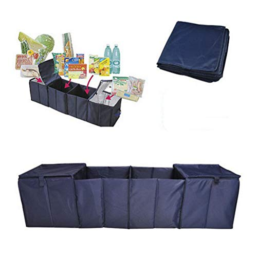 Dbtxwd Mehr-Purpose Faltwagen-Trunk Finishing Package-4 Grid Car Storage Box Cooler Box, 115×30×30Cm