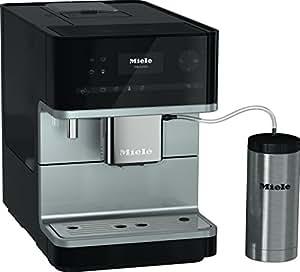 Miele CM 6350 Kaffeevollautomat (OneTouch- und OneTouch for Two-Zubereitung, 4 Genießerprofile, Tassenwärmer, Heißwasserauslauf, Tassenbeleuchtung, automatische Spülprogramme) schwarz