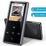 Bluetooth MP3 Player, Verlustfreier Touch MP3 Musik Player mit FM Radio Video Player Foto E-Book LED Indikator, 16GB MP3 Player bis 128GB (H11)
