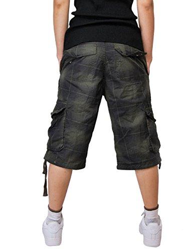 MENSCHWEAR Uomo Pantaloncini corti Bermuda Cargo short con tasconi laterali con cintura Blu
