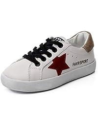 XL_etxiezi Zapatos para niños Estrellas Blancos Zapatos para niños y niñas, Rojos_30