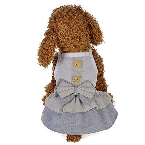 &liyanan College Wind Rock, Kleiner Hund Bogen Kleid niedlichen Welpen Haustier Baumwolle Rock Kleidung für den Sommer, Prinzessin Kleid Katze Hund (Farbe: grau, grün, pink),Green,S (College Kostüme Design)