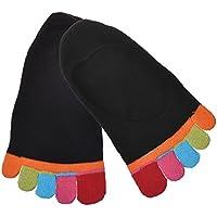 Culater® 1 par cinco dedos calcetines del tobillo del dedo del pie (Negro)