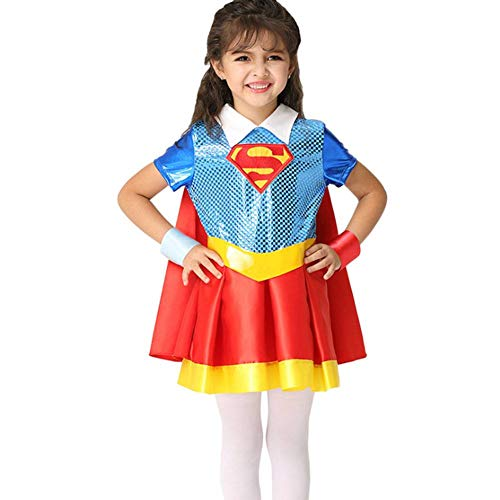 Kostüm Anime Superman - AIYA Halloween Cosplay Kostüm Mädchen Performance Kostüm Anime Superman Cosplay Mantel Kleid Set