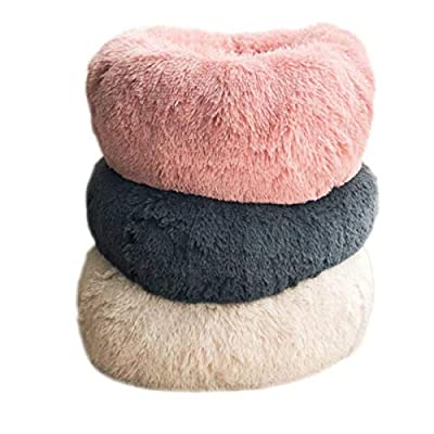 Huijunwenti Cat Bed, Dog Bed, Cat Sleeping Pad, Puppies Pet Bed, Chihuahua Dog Bed, Soft Cushion For Autumn And Winter, Deep Sleep, Kitten Bed, Round Plush Autumn And Winter Mattress, All Seasons Avai from huijunwenti