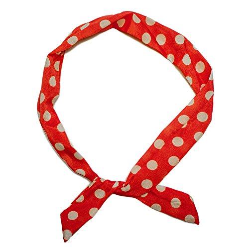 SoulCats® 1 Haarband viele Styles!-Polkadots Rockabilly Schleife Punkte Streifen rot Weiss Marine pink, Modell:rot/weiß gr. Pkt (Rot Hair Bows)