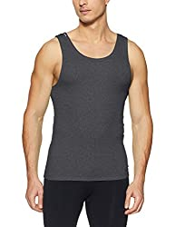 Jack & Jones Mens Solid Vest (12131046_Castlerock_L)