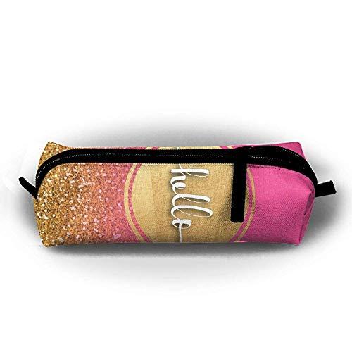 Pencil Case Hello Fashion Student Pen Holder Makeup Bag Zipper ()