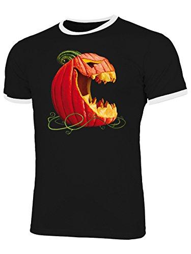 Kürbis 5883 Halloween Kostüm Männer Herren T-Shirt Partnerlook Verkleidung Party Schminke Gruselig Hand Geist Insekten Perücke Reissverschluss Gesicht