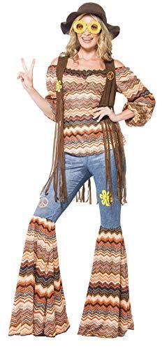 Smiffy's 43856M - Harmony Hippie Kostüm  mit Top Flares und Weste (Beliebte Hippie Kostüm)