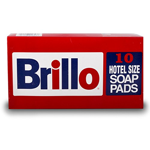 "THE CHEMICAL HUT® 10 4"" Brillo Hotel Size Fine Steel Soap Infused Pads Dissolves Grease & Lifts Burnt On Food - Comes With THE CHEMICAL HUT® Anti-Bacterial Pen!"