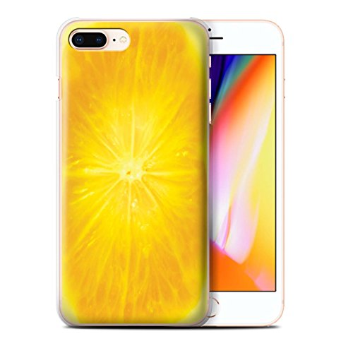 Stuff4 Hülle / Case für Apple iPhone 8 Plus / Erdbeere Muster / Obst Kollektion Orange