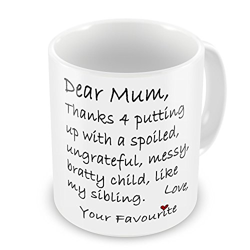 Mothers Day Sibling Joke Mug