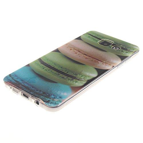 Samsung Galaxy A3(2016) A310 hülle MCHSHOP Ultra Slim Skin Gel TPU hülle weiche Silicone Silikon Schutzhülle Case für Samsung Galaxy A3(2016) A310 - 1 Kostenlose Stylus (Black Lion) Colorful Hamburger