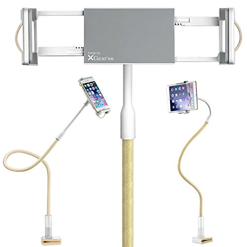 First2savvv LR-MTL2-13D02 Supporto da tavolo, Regolabile Perno Universal 3.5-14 Pollici Supporto per iPad Pro Mini / iPad Mini 4 / iPhone 6s / 6s Plus / Samsung Galaxy S7 S6 / Galaxy Note 10.1 / Huawe LR-MTL2-13UFS02 + usb mini ventilatore