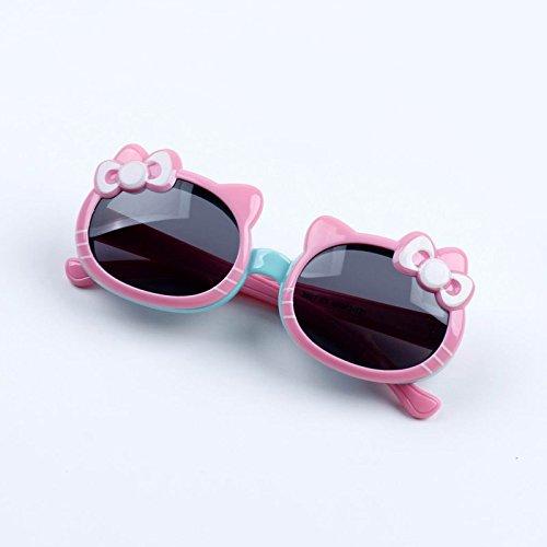 Sunyan Kinder weiche Polaroid Sonnenbrille, kleine Prinzessin Sonnenbrille, niedlichen Baby Katze, katze, Katze, Rosa