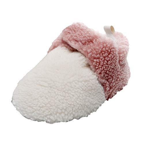 LEXUPE Baby schönen Herbst Winter warme weiche Sohle Schneeschuhe weiche Krippe Schuhkleinkind Stiefel (A-Rosa,15)