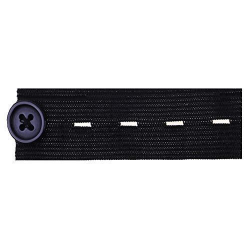 PinzhiHose Taillenbund verstellbare elastische Knopfverlängerung (Schwarz) Fw-hose