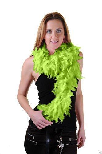 Neu Damen 150CM Hohe Qualität Federboa 20er Flapper Junggesellinnenabschied Kostüm Dress50gm - hellgrün, Einheitsgröße (Grün Flapper Kostüme)