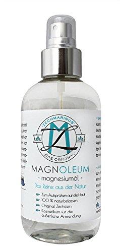 Magnesium-Öl-Spray Zechstein MAGNOLEUM 200 ml PET-Sprühflasche dermatologisch klinisch getestet – Magnesium-Sole - Magnesiumchlorid – Magnesium-Spray-Oil natürlich – Magnesiumöl Spray