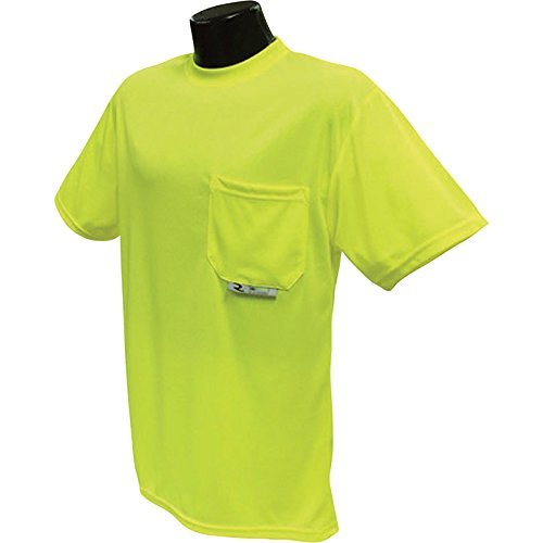 Radians RadWear High Visibility Short Sleeve Safety T-Shirt with Max-Dri - Lime, XL by Radians Radwear (Cool-dri Wick)