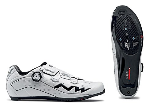 Northwave Flash 2 Carbon Rennrad Fahrrad Schuhe weiß/schwarz 2018: Größe: 44 (Northwave Carbon)