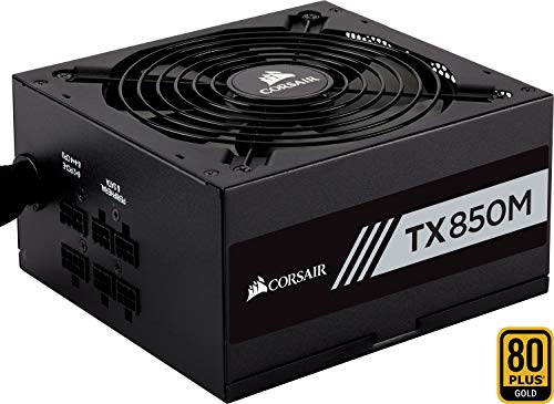 Corsair TX850M Alimentatore PC, Semi Modulare, 80 Plus Gold, 850 W, EU