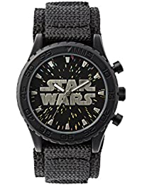 Star Wars STW1301 - Reloj de pulsera chicos, Nailon, color Negro