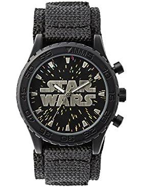 Star Wars Jungen-Armbanduhr Analog Nylon Schwarz STW1301
