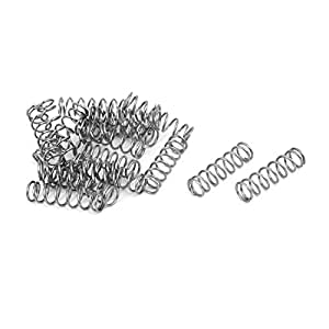 20Stk 1 mm x 10 mm x 20 mm Druckfedern aus 304 Edelstahl Silber Ton DE
