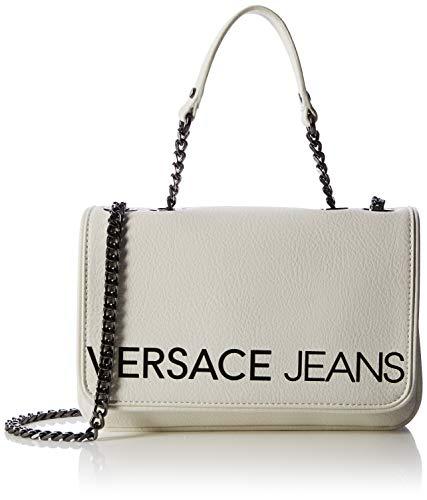 Versace Jeans Couture Damen Bag Umhängetasche, Weiß (Bianco Ottico), 4x15,5x24 centimeters