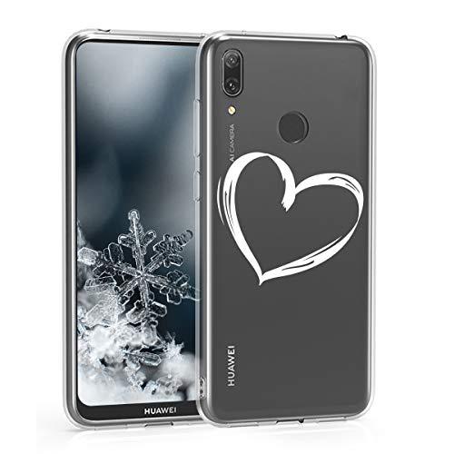 kwmobile Huawei Y7 (2019) / Y7 Prime (2019) Hülle - Handyhülle für Huawei Y7 (2019) / Y7 Prime (2019) - Handy Case in Weiß Transparent