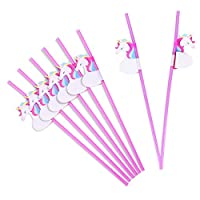 TankerStreet Cocktail Drinking Straws 3D Decorative PP Tropical Hawaiian Party