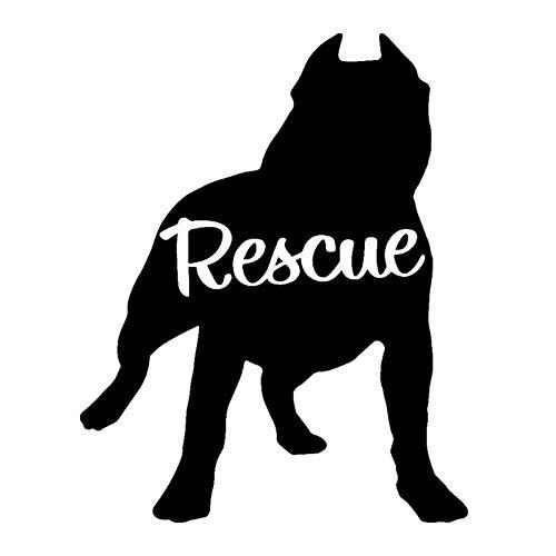 DYTE Auto Aufkleber 1 STÜCK 8,8 * 11,1 cm Pit Bull Rettungshund Auto Tiere Aufkleber AufkleberMotorrad Auto Styling Autozubehör