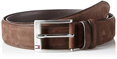 Tommy Hilfiger Herren Gürtel Houston Belt 3.5 Adj Braun (Testa DI Moro 254), 105 cm (Herstellergröße:
