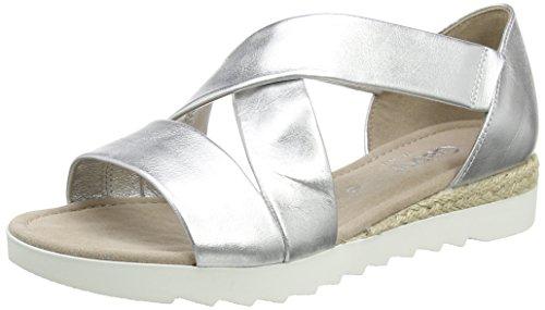 Gabor Shoes Damen Comfort Offene Sandalen, Silber (Silber (Jute) 10), 37.5 EU