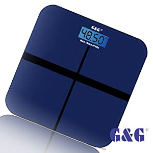 G&G A6 180kg DESIGN Digitalwaage Personenwaage AAA Batteriebetrieb GLAS Scale