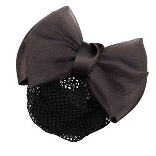 2pcs Bow Tie barette cheveux clip Snood Net coiffure pour les femmes, Q
