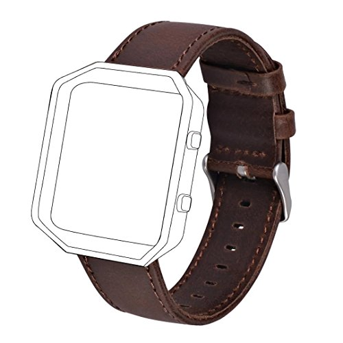 41f nzBBXIL UK BEST BUY #1Fitbit Blaze Band, Zolion Crazy Horse Style Premium Vintage Genuine Leather Wrist Watch Band Strap Replacment with Classic Stainless Steel Buckle Clasp (Coffee) price Reviews uk
