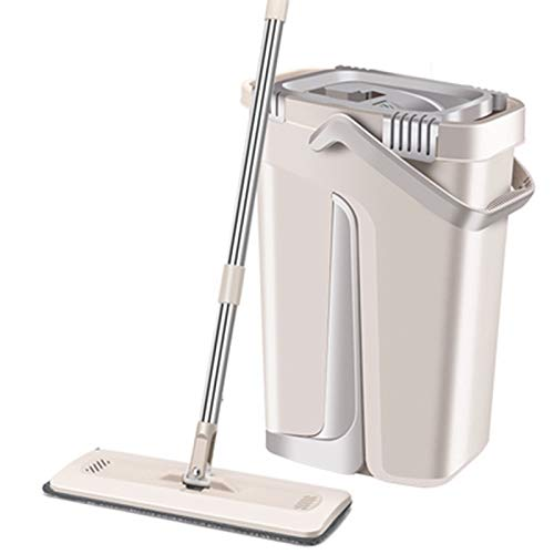 Leobtain Dust Wizard Floor Mop and Bucket Set with